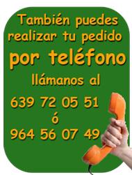 Haz tu pedido por teléfono